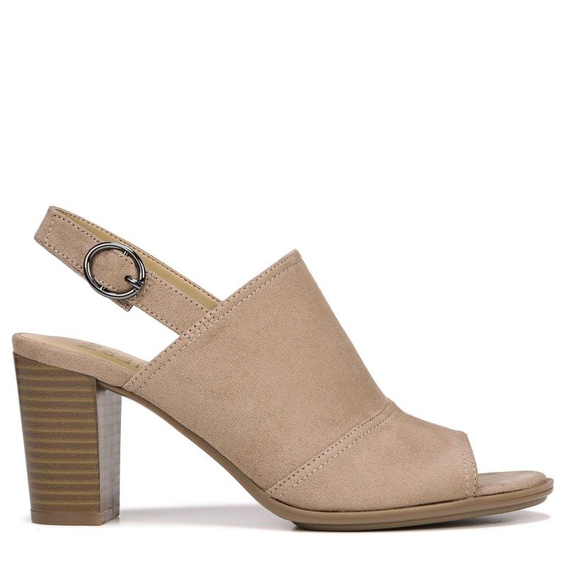 8ecb693d7826 Naturalizer Women s Logic Medium Wide Peep Toe Bootie Sandals (Oatmeal)