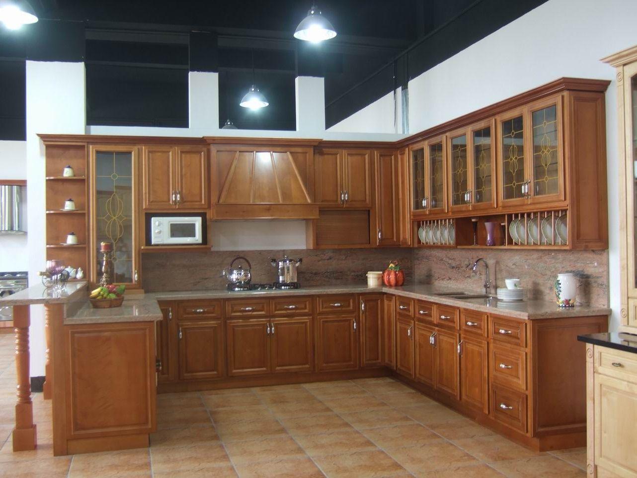 Pintar gabinetes de cocina ideas uk - Mueble Cocina Madera Clasico Jpg 1282 961