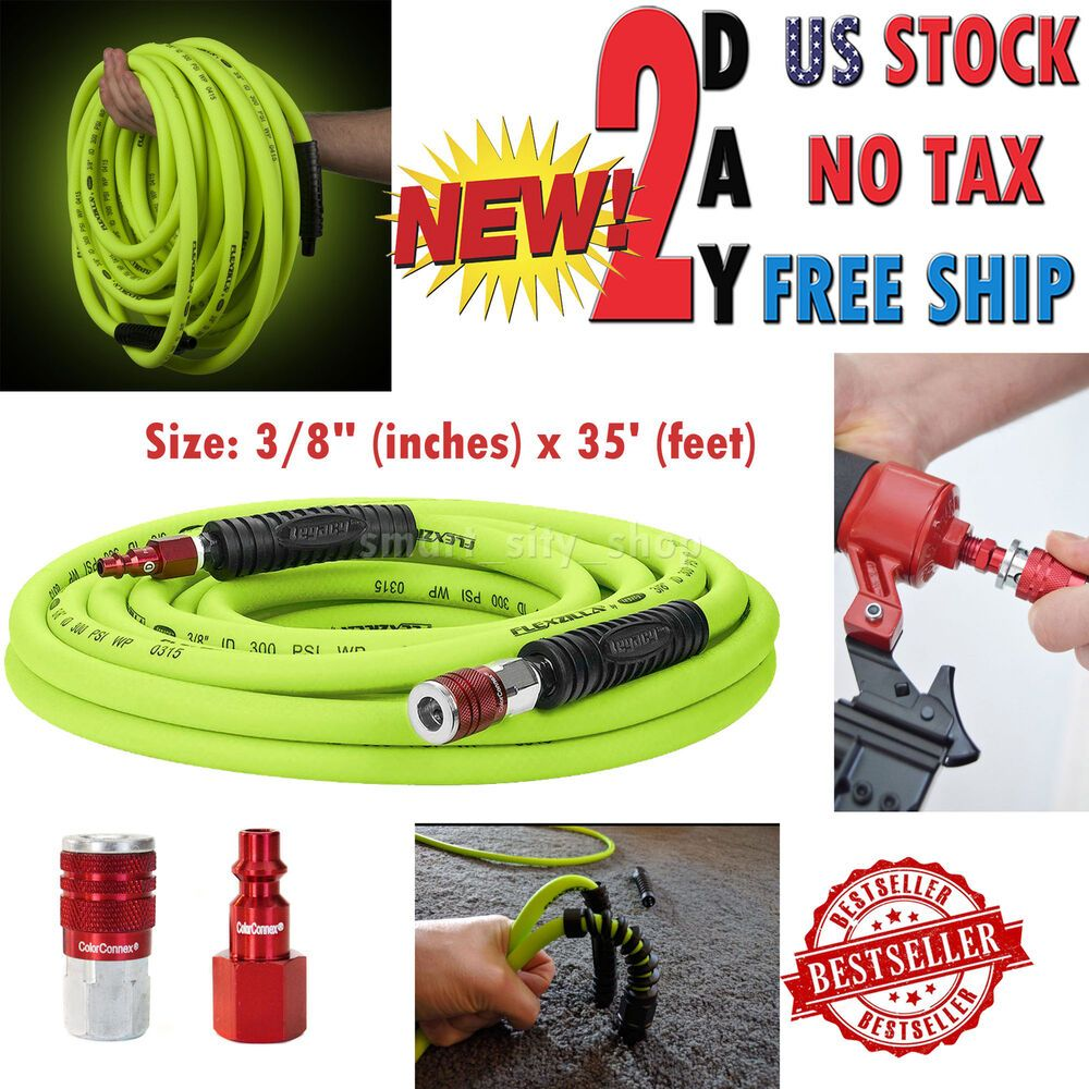 Air Compressor Hose W/ ColorConnex Industrial Plug 3/8 x