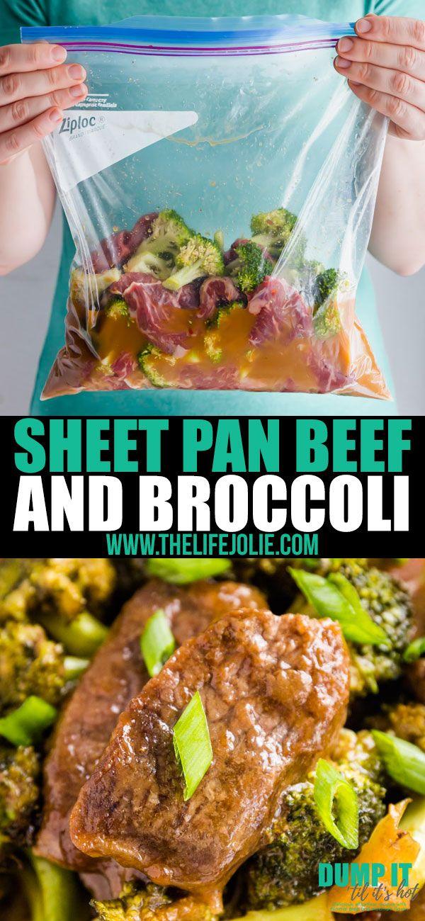 Sheet Pan Beef and Broccoli #beefandbroccoli