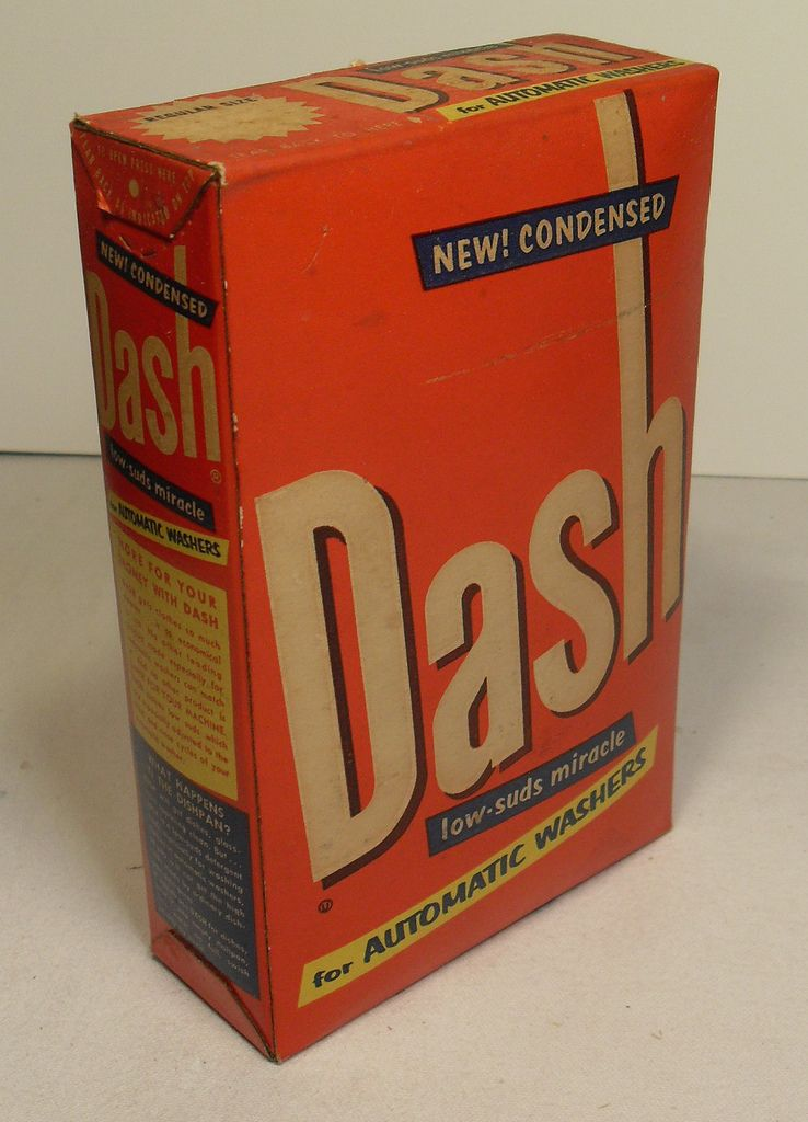 Dash Detergent Box 1960s Vintage Vintage Washing Machine