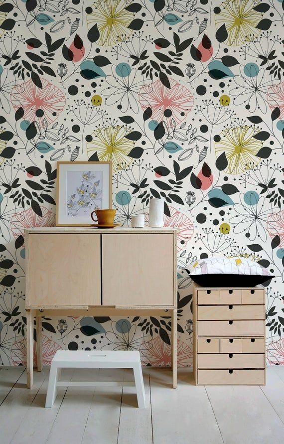 Removable Wallpaper Peel And Stick Wallpaper Wall Paper Wall Mural Vintage Floral Wallpaper A591 In 2021 Removable Wallpaper Large Print Wallpaper Wall Wallpaper