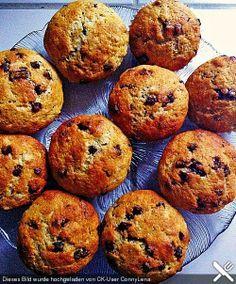 Schnelle Schoko Bananen Muffins
