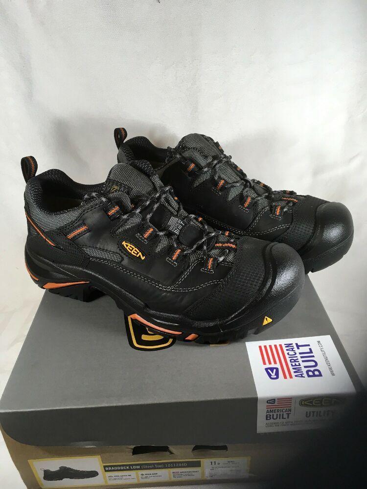 Keen utility footwear Braddock low steel toe 1011244D 11 D