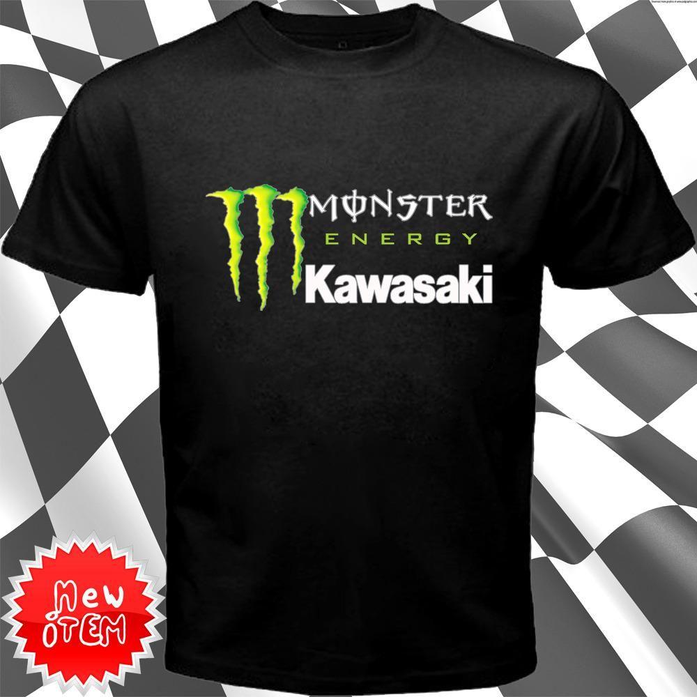 Superior Item : Monster Energy Kawasaki New Black T Shirt. Price : $23.69 Free  Shipping