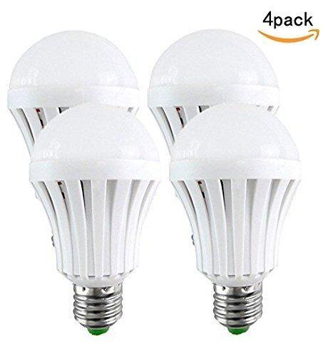4PK-LED Light Bulbs 5W- Emergency LED Bulbs Human Body Induction, Intelligent Light Recharge