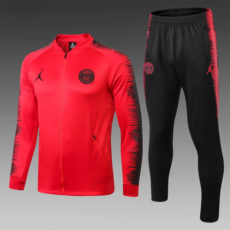 PSG 18 19 Jordan Red Men Jacket Tracksuit Slim Fit 2 f972b9a760327