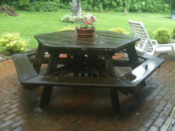 Pentagon Shaped Picnic Table Picnic Tables Pinterest Picnic - Pentagon picnic table