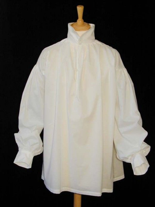 Favorite 18th C shirt. A man's shirt, like a woman's shift, is his underwear. It is rarely worn without a waistcoat or jacket over it. Unlike many of a man's garments that are made by skilled tailors, shirts are easily constructed at home. The shirt is cut from rectangles and squares, with as little waste of fabric as possible. The shirt of a laborer and the shirt of a fine gentleman are cut in the same manner-the difference lies in the quality of the fabric and perhaps the quality of the…
