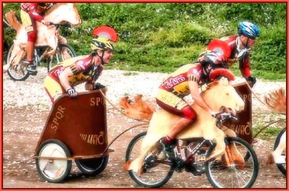 La versatilidad del ciclismo.