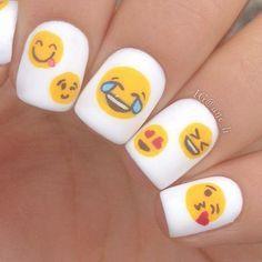 Enoji Nail Art Nail Art Pinterest Emoji Nails And Nail Nail