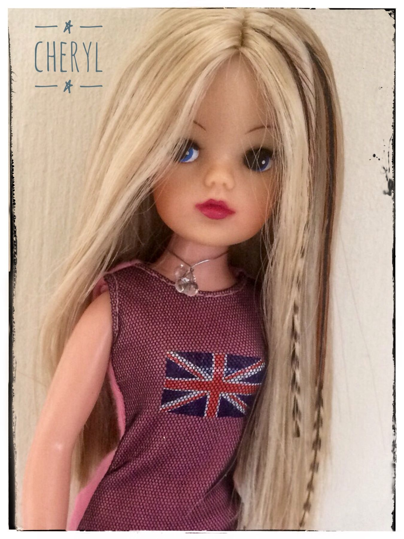 Sindy Rerooted With A Blend Of Shades Of Blonde And Feather Hair