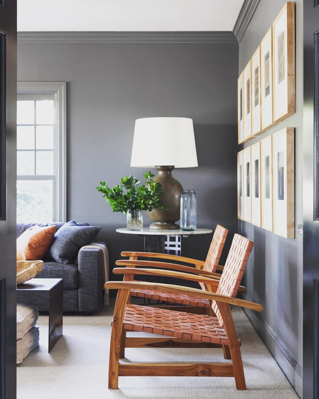 Best Benjamin Moore Kendall Charcoal Charcoal Living Rooms 400 x 300