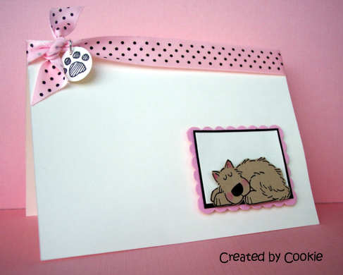 Ruff Day using Stampin Up Bow Wow