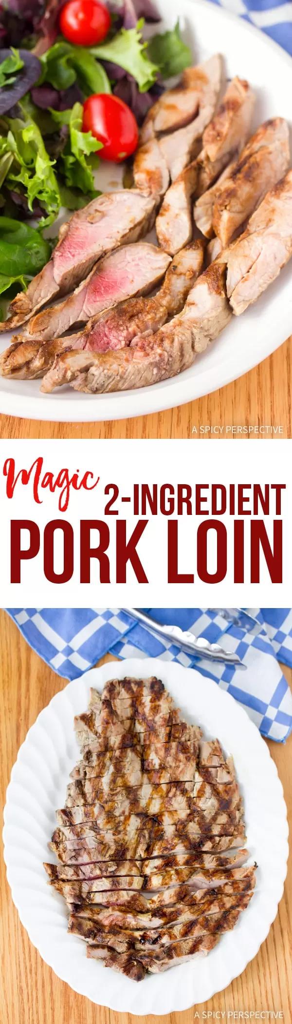 Magic 2-Ingredient Grilled Pork Tenderloin #grilledporksteaks
