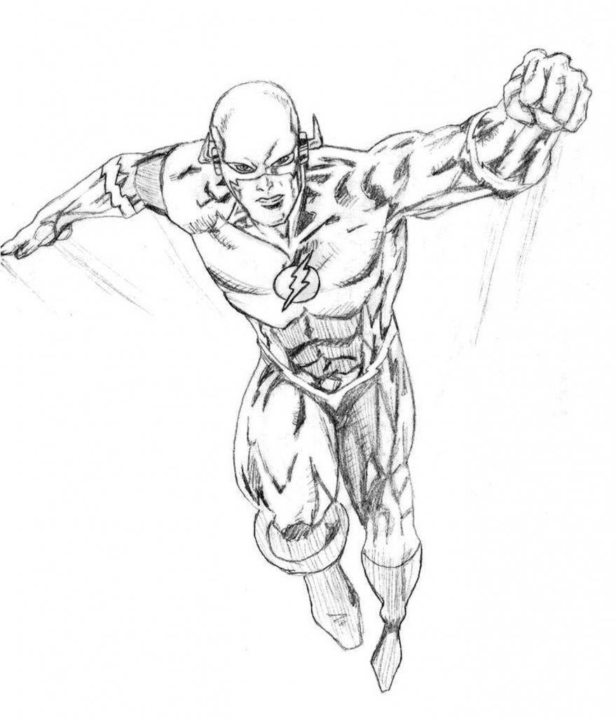 the flash superhero coloring pages - The Flash Coloring Pages