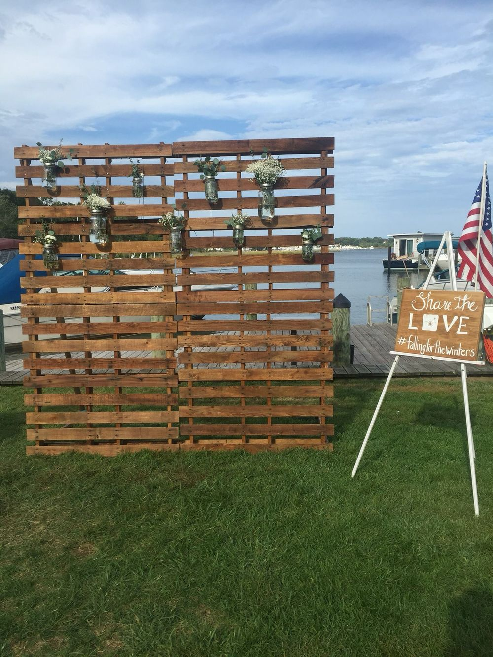 Pallet Photobooth Wall For Engagement Party Wedding In 2018