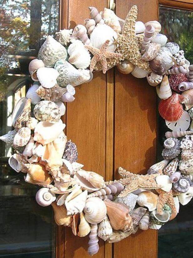 Photo of Bountiful seashell wreath for your door