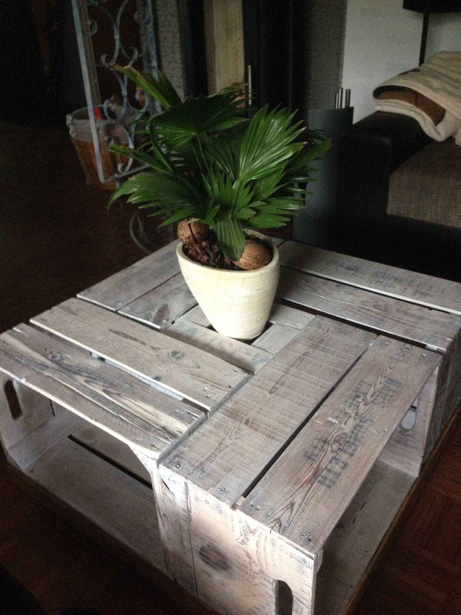 tisch aus alten obstkisten thomas seine projekte in 2019. Black Bedroom Furniture Sets. Home Design Ideas