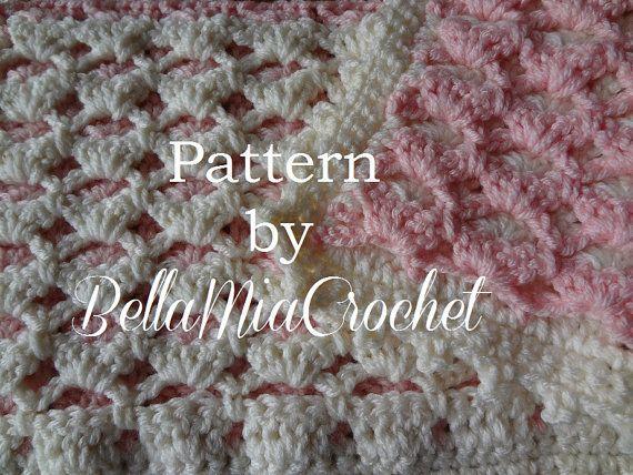 Crochet Baby Blanket Pattern // Reversible Lace by bellamiacrochet ...