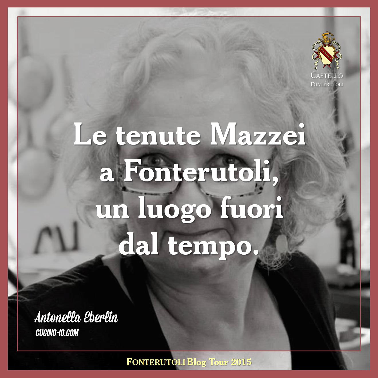 La sintesi di Antonella Eberlin della sua esperienza durante il blog tour a Fonterutoli. @marchesimazzei #mazzei #fonterutoli #tuscany #wine