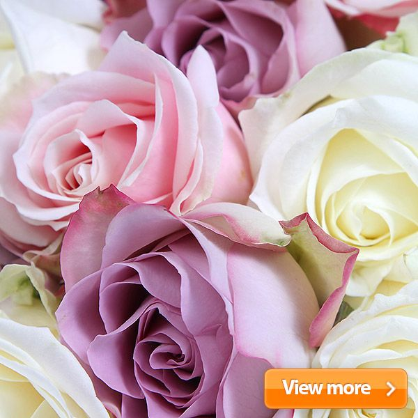 Elegance and sophistication are entwined together in perfect harmony with these sublime #luxury #roses in delicate #pastel #shades. The perfect gift for the irresistibly #romantic amongst us.