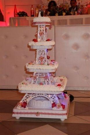 Terrific Eiffel Tower Wedding Cake Stand Ideas - Best Image Engine ...