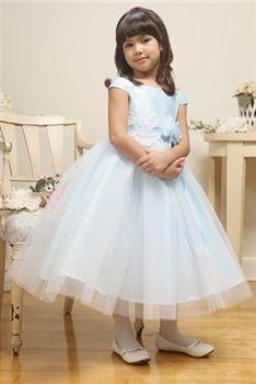 ba3c341ce92 Michelle Pale Blue Flower Girl Dress  42.99