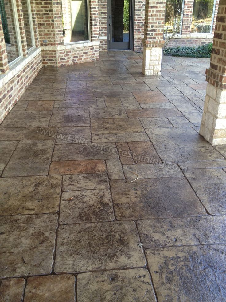 Cement Patio Designs Stained Concrete Floor Designs: Decorative Concrete Overlays In