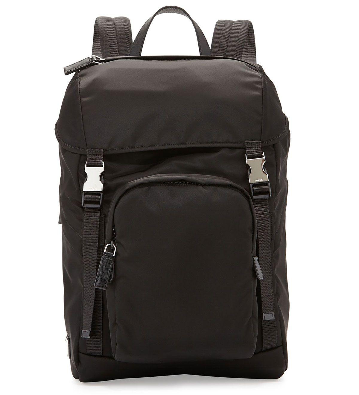 Prada Men s Nylon Double-Buckle Backpack Black  235.00  f1e21887c3d88