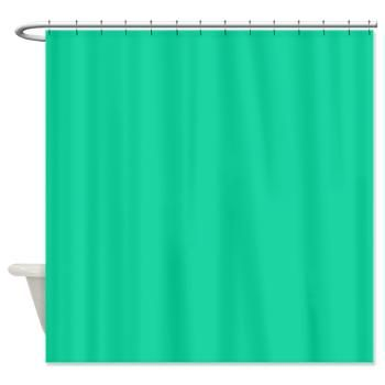 Caribbean Green Solid Color Shower Curtain Solid Color Shower