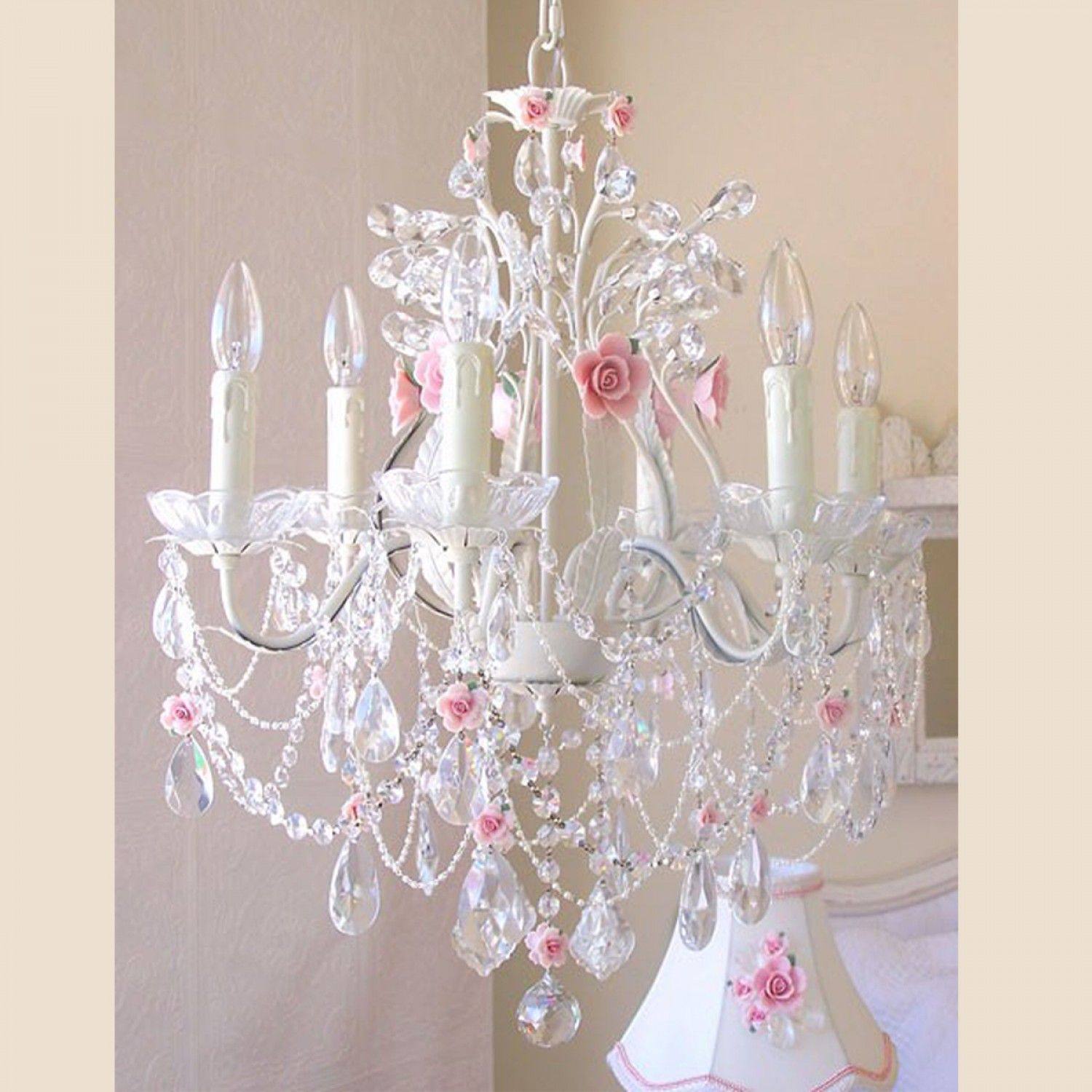 Exquisite rose 6 light crystal chandelier with pink porcelain exquisite rose 6 light crystal chandelier with pink porcelain roses 74900 freeshipping thebellacottage arubaitofo Choice Image