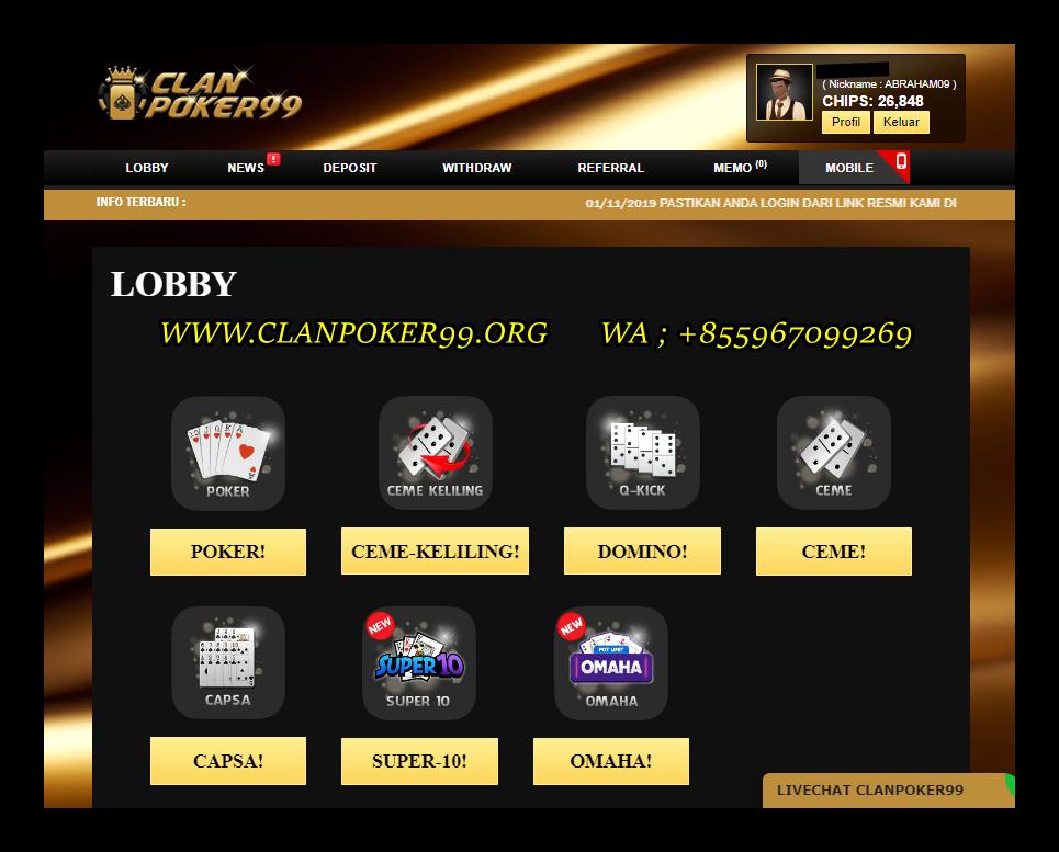 Pin Di Situs Qq Terpercaya 2020 Idn Clanpoker99 Domino