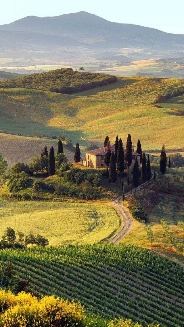 Beautiful Summer Landscape Italian Farm Italy Landscape Summer Landscape Tuscany Italy