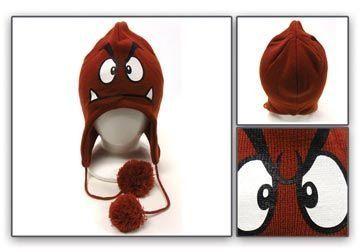 762c9d63e42 Amazon.com  Nintendo Super Mario Bros. Goomba Peruvian Laplander Knit Cap   Clothing