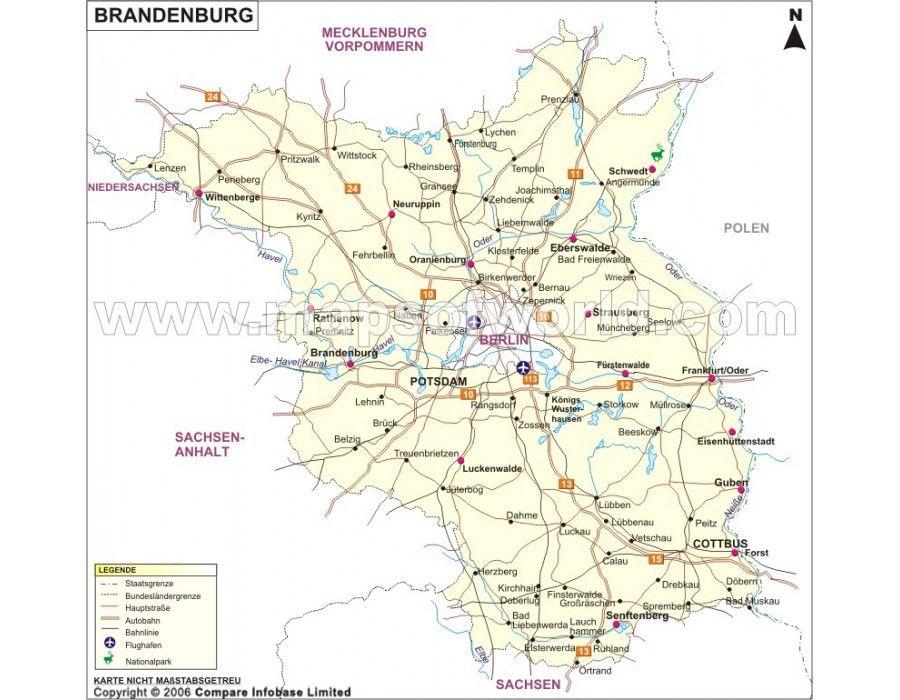 Buy Brandenburg Karte Map Online Map Brandenburg Stuff To Buy