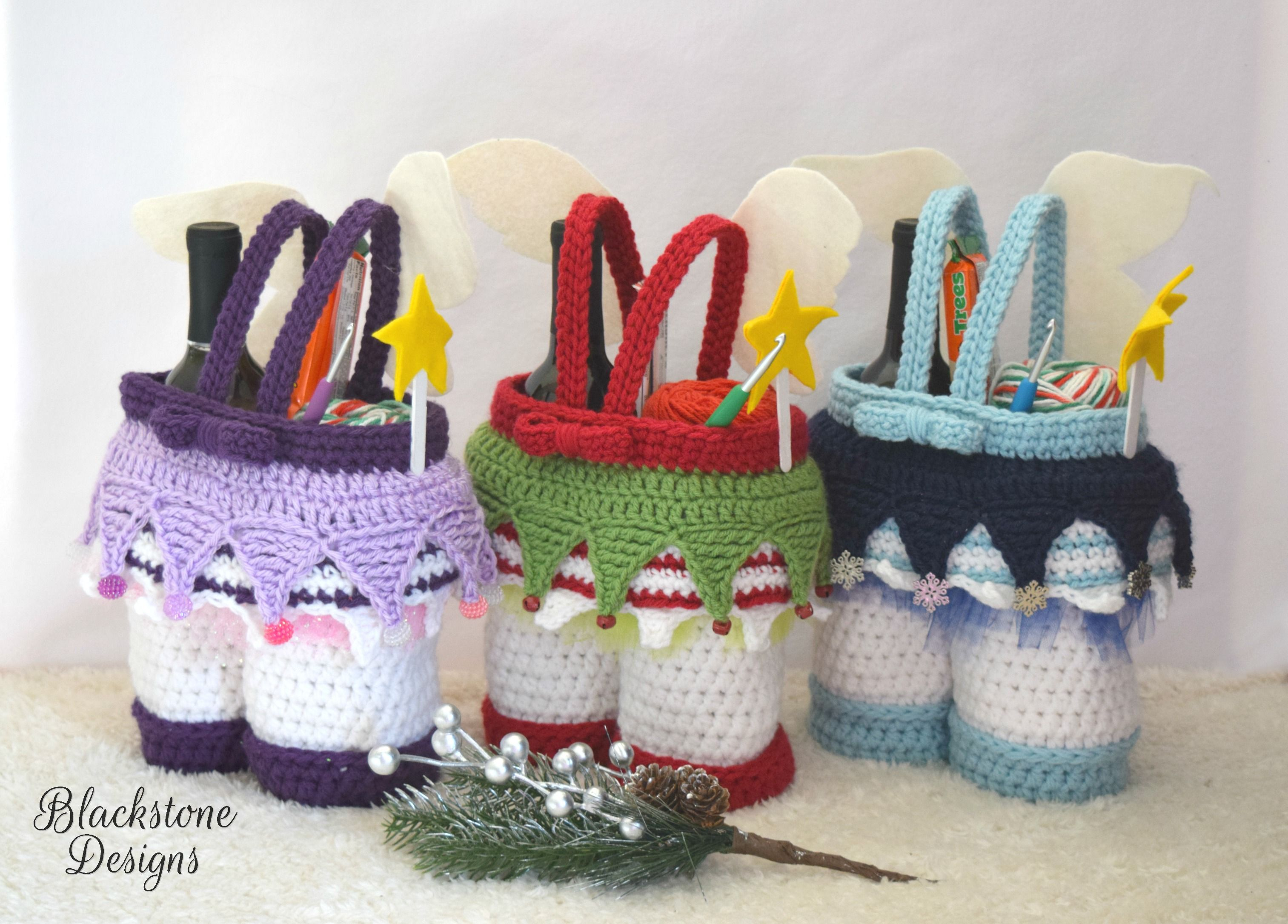 Christmas Fairy Gift Basket Crochet Pattern From Blackstone Designs