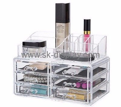 Custom Cheap Clear Makeup Organizer 6 Drawer Acrylic Makeup Organizer  Drawer Organizers For Makeup CO 270