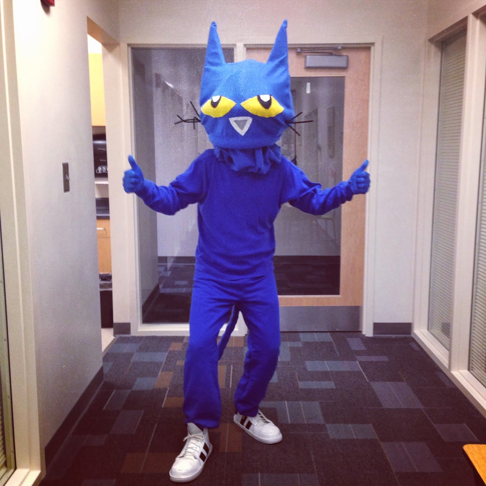 I recently made a pete the cat costume for a storybook character do it yourself pete the cat costume story book costume for williams halloween parade solutioingenieria Gallery