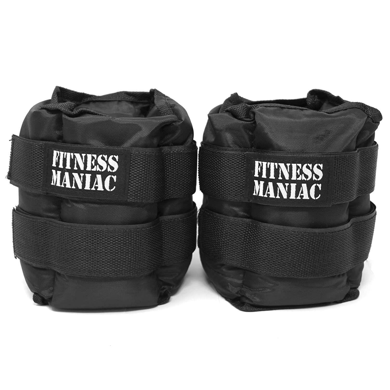 Fitness maniac adjustable straps ankle weights wrist leg