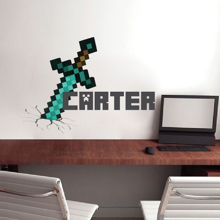 Minecraft Personalized Name Decal Minecraft Design Decals