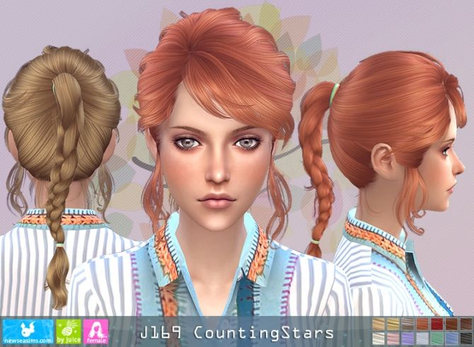 J169 CountingStars hair (Pay) at Newsea Sims 4 • Sims 4 Updates