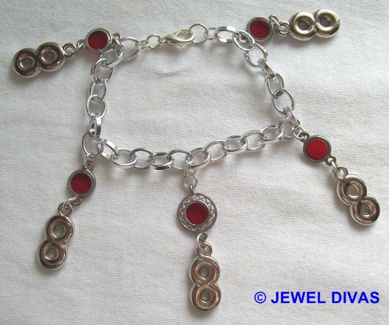 LUCKY NUMBER 8 - $7.50 - www.madeit.com.au/JewelDivas
