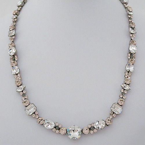 Sorrelli Snow Bunny Crystal Necklace, Vintage, Weddings, Evening Wear at perdect details.com