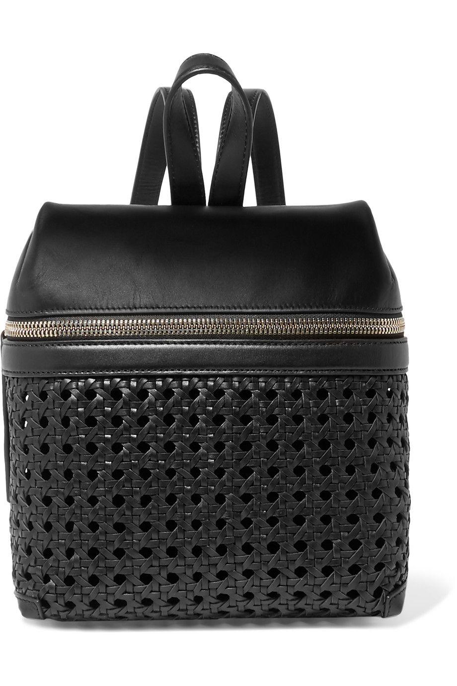 24344472c KARA Small Woven Leather Backpack. #kara #bags #leather #backpacks ...
