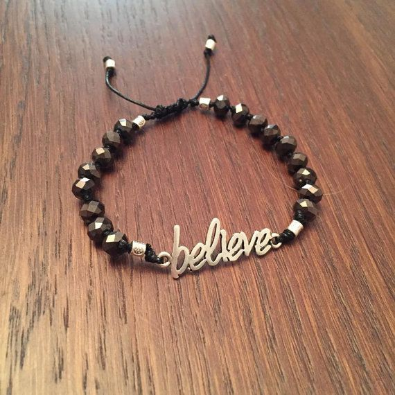 Believe bracelet by TLjewelryCreations on Etsy