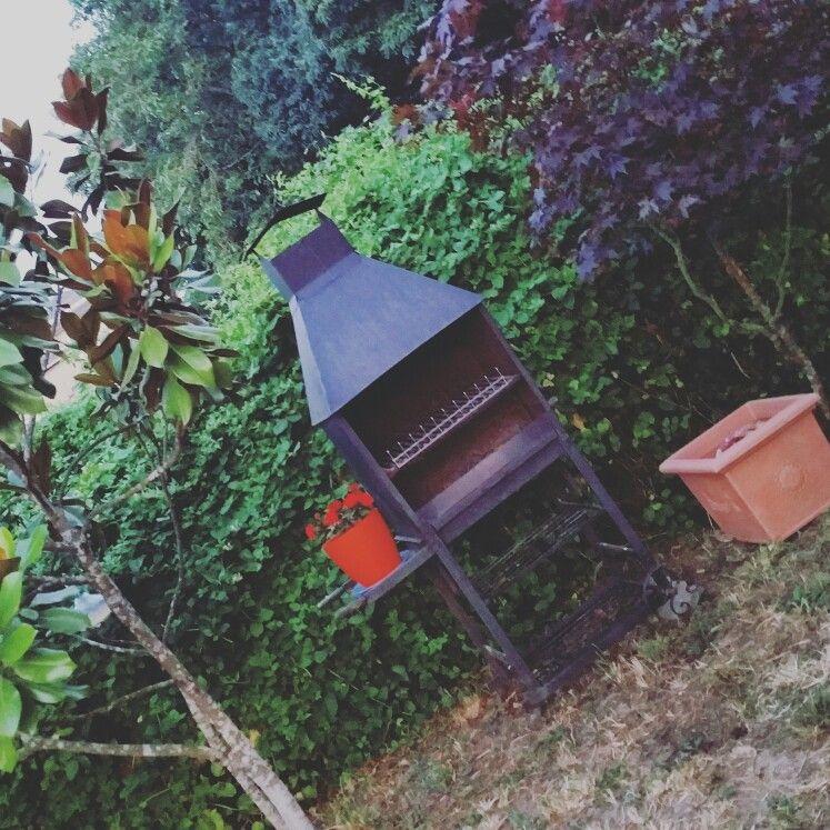 Rincones Barbacoa jardin Pinterest