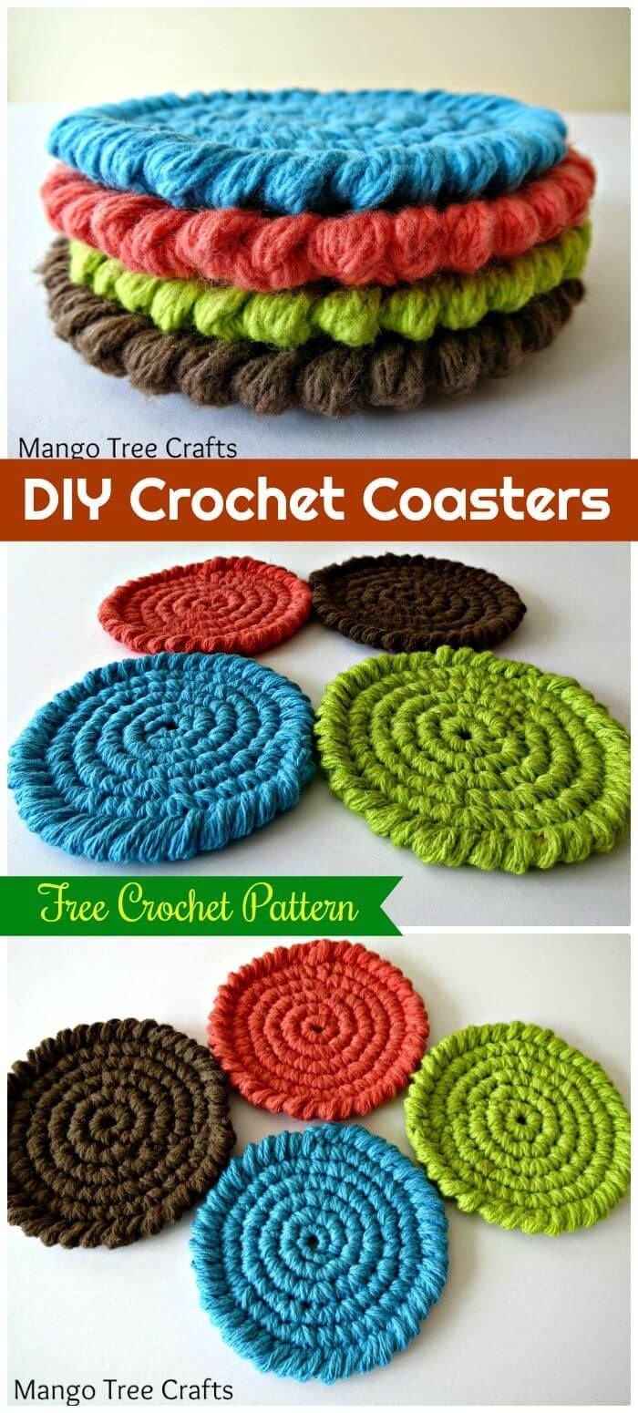 70 Easy Free Crochet Coaster Patterns for Beginners | Free crochet ...