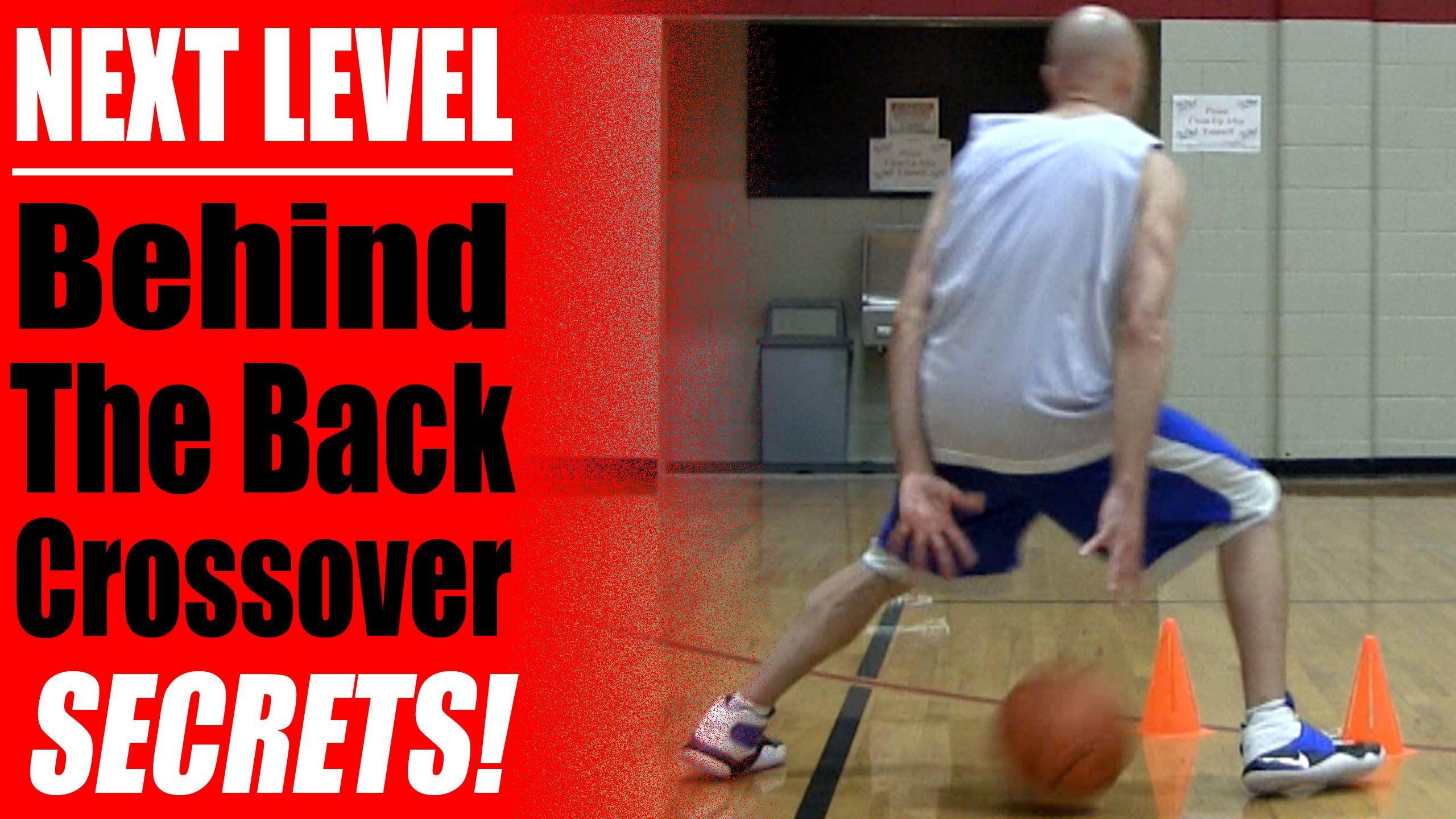 Basketball moves next level behind the back crossover