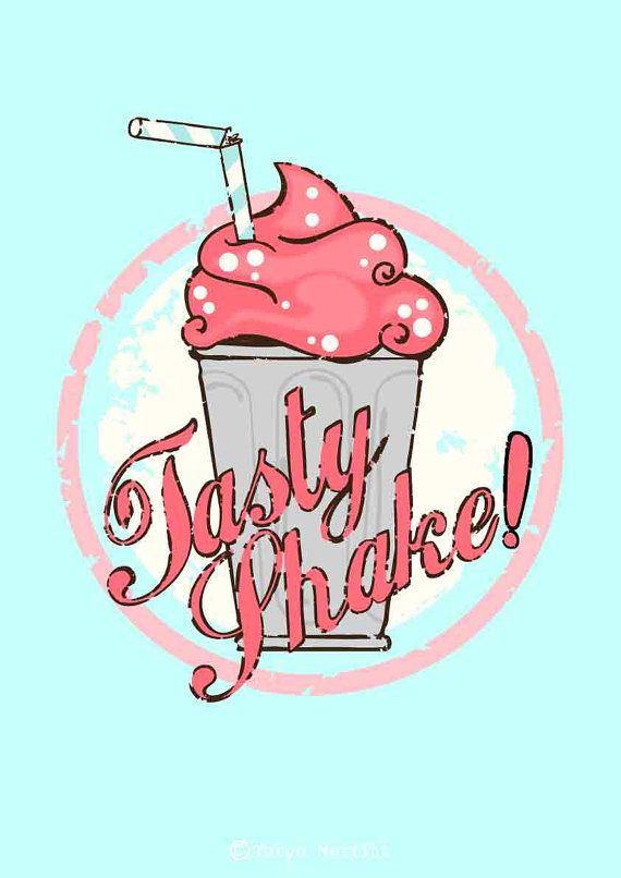 This Item Is Unavailable Etsy Milkshake Food Illustration Design Retro Poster
